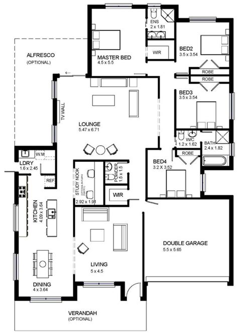 small ranch floor plans one storey modern house plans homes floor plans