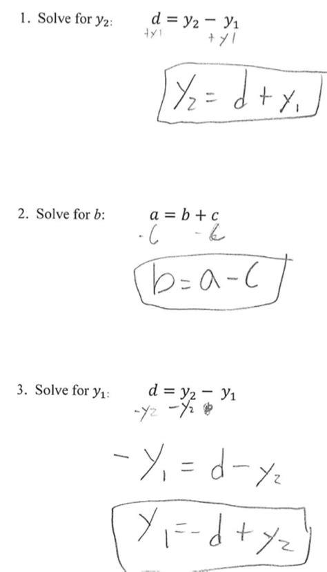 literal equations worksheet for 8th graders 1st quarter