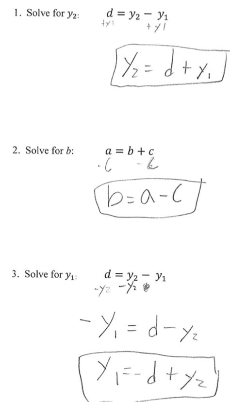 Literal Equations Worksheet For 8th Graders  Multi Step Equations Worksheet 8th Grade 1000