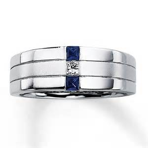mens sapphire wedding bands 39 s sapphire ring 1 10 ct 14k white gold
