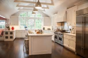 kitchens with island benches cathedral ceiling kitchen transitional kitchen smith