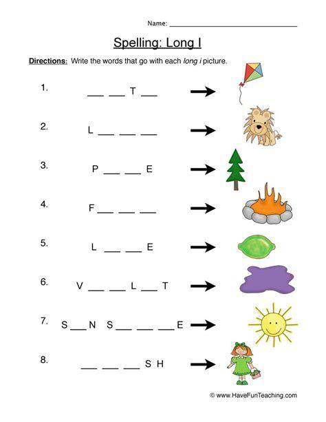 Printable Worksheets » Long I Sound Worksheets  Printable Worksheets Guide For Children And Parents