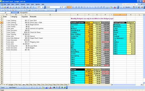 free finance spreadsheet 15 free personal budget spreadsheet page 15 excel
