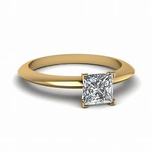 round knife edge solitaire engagement ring in 14k white With single solitaire wedding rings