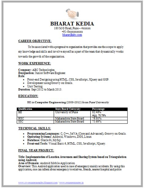 best resume format for experienced software engineers 10000 cv and resume sles with free software engineer resume