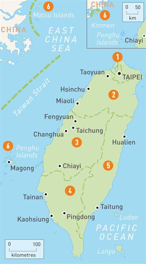 map  taiwan taiwan regions rough guides