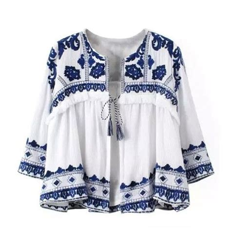 greek isle  neck embroidered flare top
