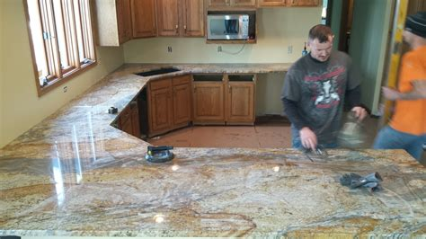 completed kitchen countertops  granite guy