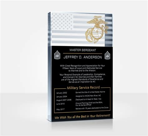 marine corps retirement plaque  poem samples diy awards
