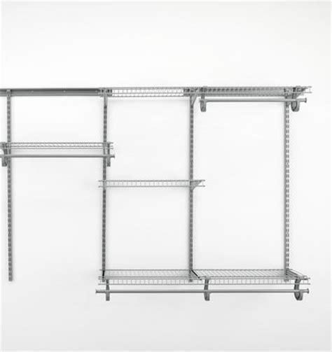 closetmaid 4 ft 6 ft shelftrack closet organizer