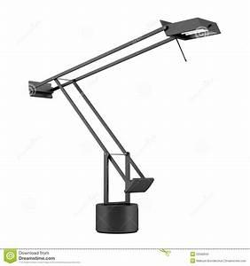 Lampe De Bureau Noire : lampe de bureau noire moderne d 39 isolement sur le blanc photo libre de droits image 22566945 ~ Teatrodelosmanantiales.com Idées de Décoration