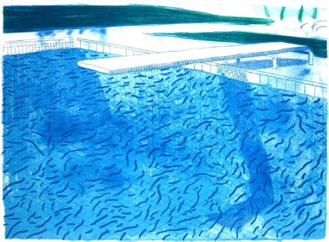 Black Linen Curtains by Hockney Swimming Pool Paintings Paint Home Design