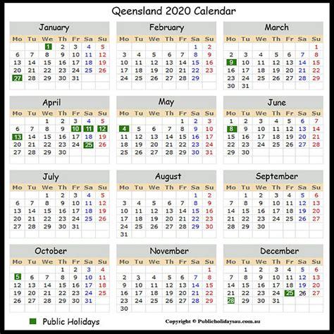 catch  calendar queensland  public holidays
