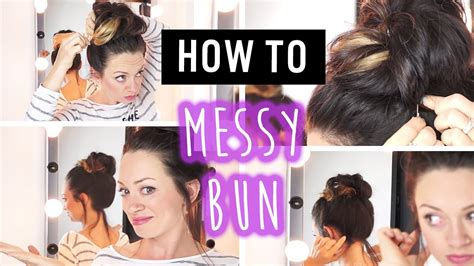 quick easy travel hairstyles messy bun youtube
