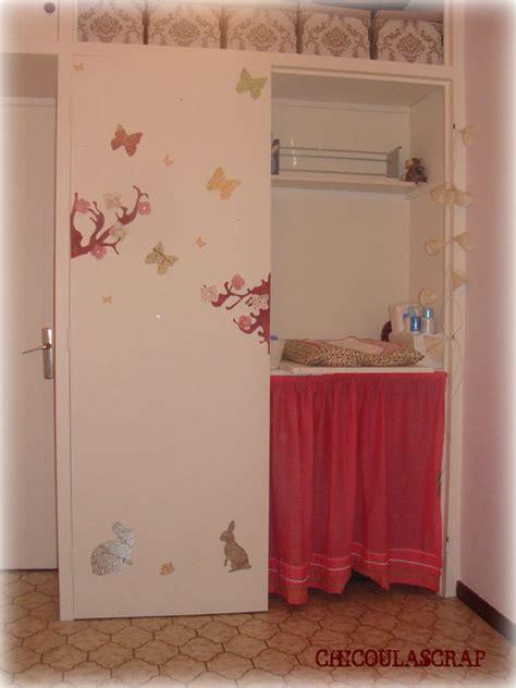 porte placard chambre décoration porte placard chambre bébé chicoulascrap