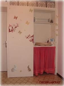 Decoration porte placard chambre bebe chicoulascrap for Deco porte placard chambre