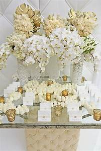 Gold and White Wedding Floral
