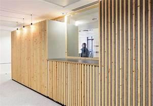 creer des cloisons et habiller les murs avec des tasseaux With habiller un mur exterieur en bois 2 bois espace produits