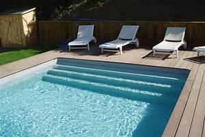 piscine loisirs 35 installateur aquilus piscine rennes With piscine avec liner gris clair 4 structure escalier et couleur de leau de votre piscine