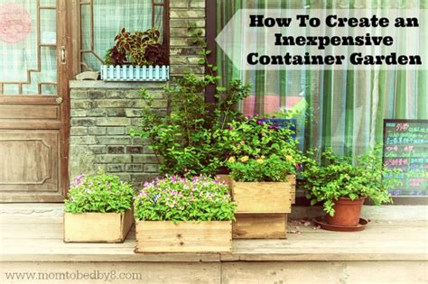 How To Create An Inexpensive Container Garden Motherhood