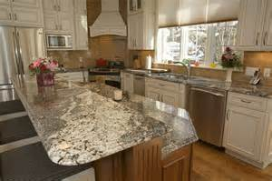 enchanting kitchen island with bar top with waterfall
