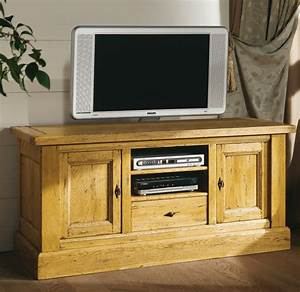 Meuble En Chene Massif : meuble tv bas chene massif ~ Dailycaller-alerts.com Idées de Décoration