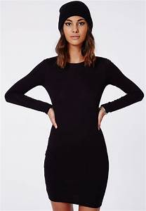 rainey long sleeve bodycon dress black dresses bodycon With robe moulante manche longue