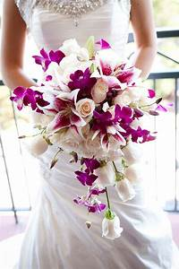 purple orchid bouquet / photo by colsongriffith.com | I Do