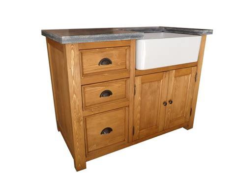 meuble cuisine en bois meuble evier de cuisine en pin