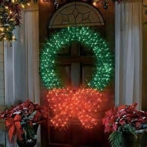 48 quot lighted wreath sculpture decoration outdoor door fence ebay