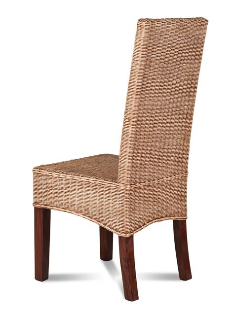 rattan dining chair light coloured weave legs