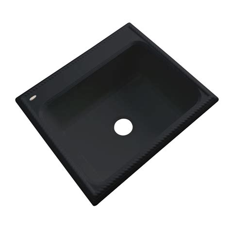 Thermocast Black Kitchen Sinks by Thermocast Wentworth Drop In Acrylic 25 In Single Bowl