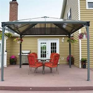 Tonnelle Autoportant : tonnelle autoportante couv 39 terrasse aluminium 3 6x3 6 m l251 x p71 5 h27 5 cm gamm vert ~ Farleysfitness.com Idées de Décoration