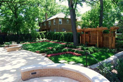 Landscaped Backyards Pictures by Landscape Elements That You Should Consider For Your