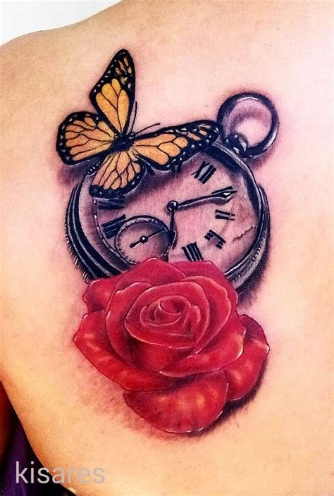 amazing rose butterfly tattoos designs  meanings
