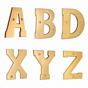 4quotquot brass letters a z polish lacquered for 4 brass letters