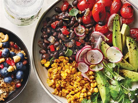 vegetarian bean foods recipes food bowl charred avocado tomato easy healthy cooking snacks eating should going digestive enzymes them simple
