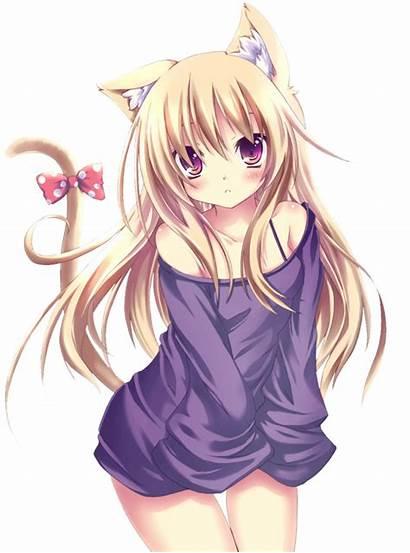 Anime Cat Transparent Neko Shy Lesbian Female