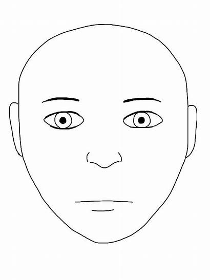 Template Blank Face Outline Human Painting Printable