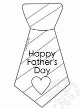Tie Coloring Father Stripes Fathers sketch template