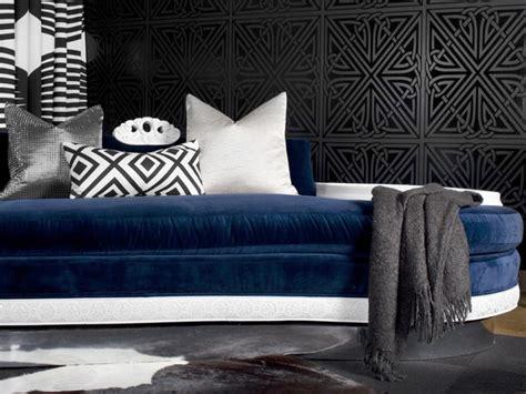 blue velvet  bold graphics interiors  color