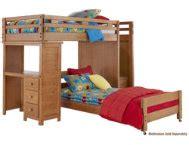 art van loft bed with desk creekside collection youth bedroom bedrooms art van