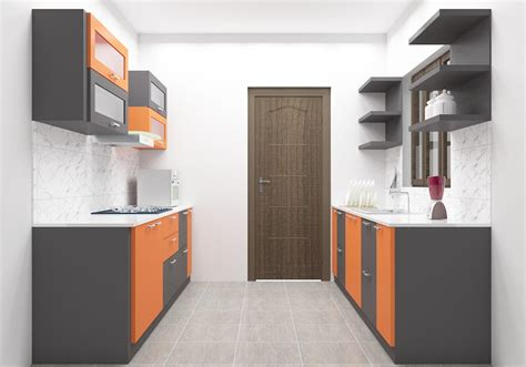 L Shaped Kitchen Designs With Island Pictures - marrakesh parallel kitchen with laminate finish