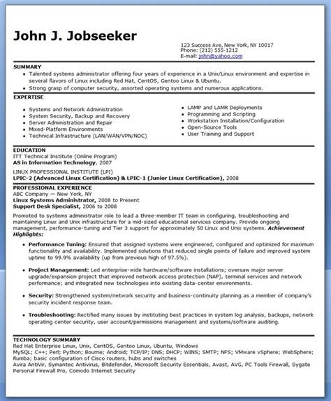 It Systems Administrator Resume by Sle Systems Administrator Resume Experienced Resume Downloads