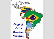Latin American Flags; 20 Latin American Country flag set