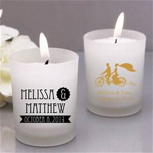 rustic style personalozed frosted glass candle favor With customized candles wedding favors