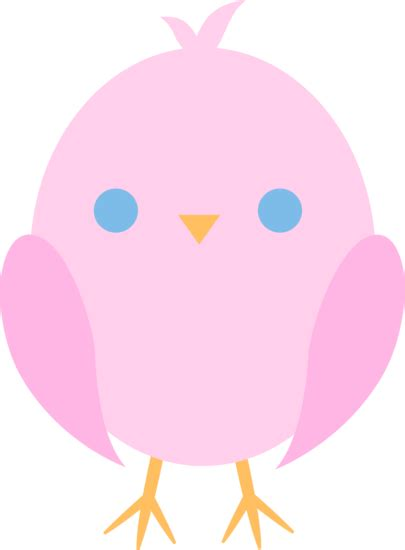 cute pink easter chick  clip art
