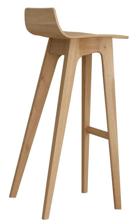 hauteur de bureau standard tabouret de bar morph bois h 80 cm chêne naturel zeitraum