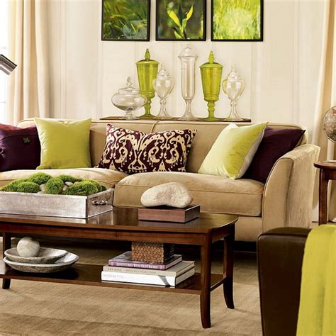 brown sofa living room decor 28 green and brown decoration ideas