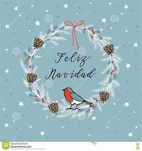 Noel En Espagnol : joyeux no l de vintage carte de voeux de feliz navidad d 39 espagnol invitation guirlande faite ~ Preciouscoupons.com Idées de Décoration